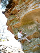 Rock Climbing Photo: Mike on the climb formerly known as Cinco de Mayo ...