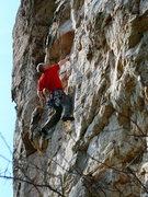 Rock Climbing Photo: Jug haulin' on Comfortably Numb, Sandrock, AL.