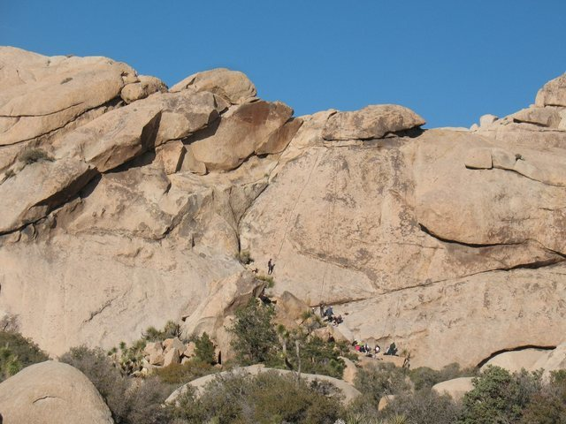 A busy day at The Solarium, Joshua Tree NP