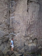 Rock Climbing Photo: Marco, getting ready to climb Holy Wall for the fi...
