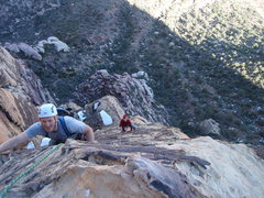 Rock Climbing Photo: The final fun and easy 5.8 pitch to the top of the...