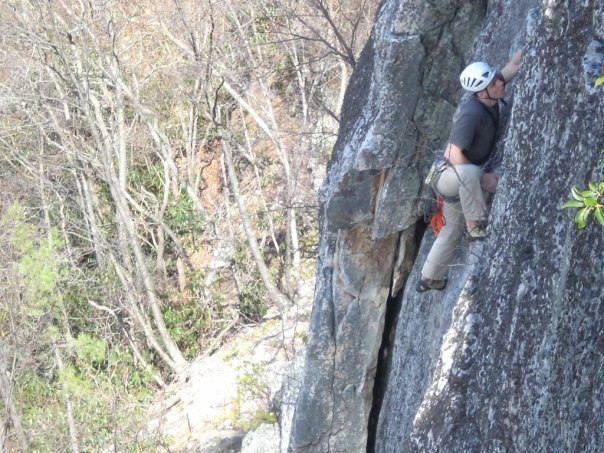 Rock Climbing Photo: Seconding the 2nd pitch.