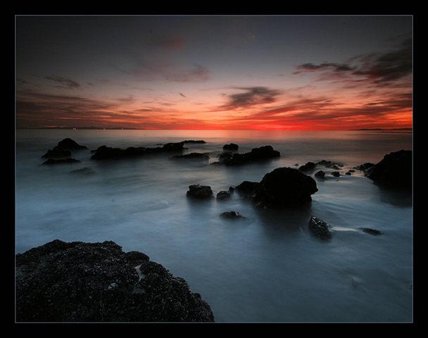 Rock Climbing Photo: Sunset over the Santa Barbara Channel. Santa Cruz ...