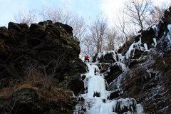 Rock Climbing Photo: Ross Purnell Finishing up on Left Corner