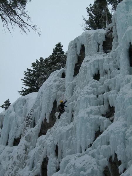 Rock Climbing Photo: Gary below the upper pillar.