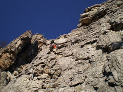 Rock Climbing Photo: My first ever trad lead.
