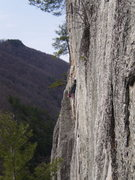 Rock Climbing Photo: Leading on the southpeak-east face.