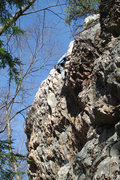 Rock Climbing Photo: Higher up on the route...