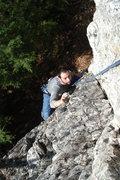 Rock Climbing Photo: Jakob getting through the crux...