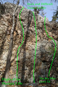 Rock Climbing Photo: Some of the right side routes...
