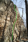 Rock Climbing Photo: The line of Aragog's Lair...