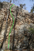 Rock Climbing Photo: The line of Flight of the Phoenix...