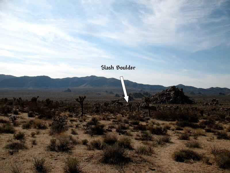 Slash Boulder on the approach, Joshua Tree NP