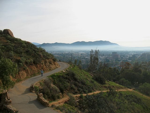 Early morning on the trail, Mount Rubidoux <br>