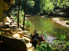 Rock Climbing Photo: On the way to Wall of Denial, Red River Gorge, KY