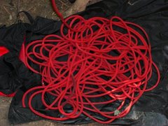 (Red) rope in Red River Gorge, KY