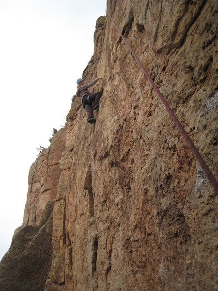 Rock Climbing Photo: Blazing up the lower wall.