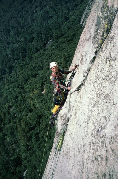 Rock Climbing Photo:  Jacek Czyz, Quo Vadis, pitch 5, start to crux A4+...