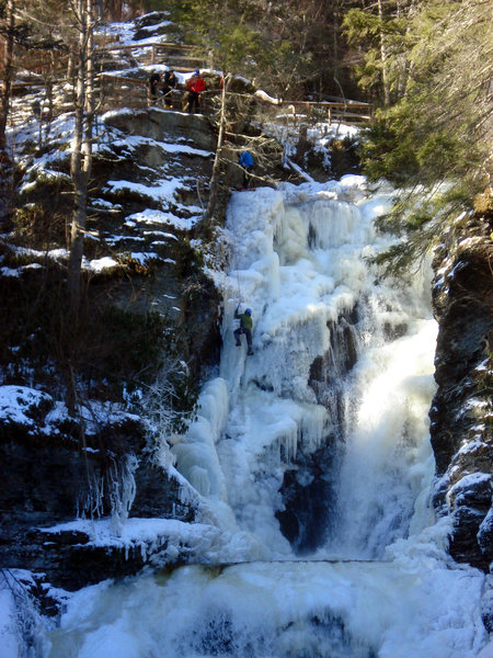 Blaise DAmbrosio on the final pitch of Dingmans Falls