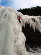 Rock Climbing Photo: Ben Annibali leading the first pitch of Kaaterskil...