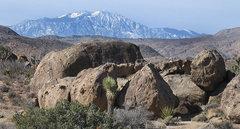 Rock Climbing Photo: The Iceberg and San Jacinto. Photo by Blitzo.