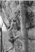 Rock Climbing Photo: new river g