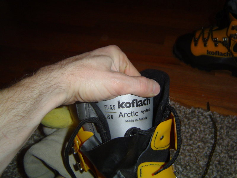 Arctic inner boots for the Koflach verticals