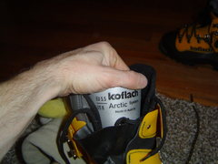 Rock Climbing Photo: Arctic inner boots for the Koflach verticals