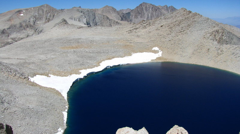 Tulayno Lake: one of the highest lakes in the Sierra.  near Mt Russell