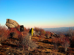Rock Climbing Photo: The welcoming boulder on the short hike up to the ...