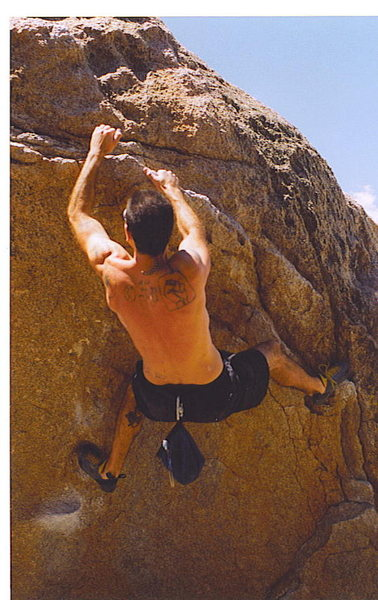 Rock Climbing Photo: first visit to Buttermilks...love at first sight.