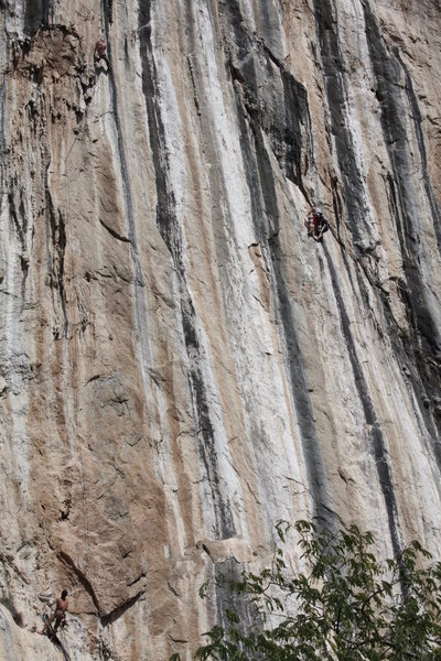 "Rock Climbing Photo: On-sighting the amazing 2nd pitch of ""Devil's..."