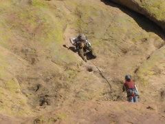 Rock Climbing Photo: Pitch 3  (Alex was really rockin' the zoom, lol!)