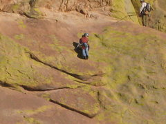 Rock Climbing Photo: In the midst of the last hard face section on p3