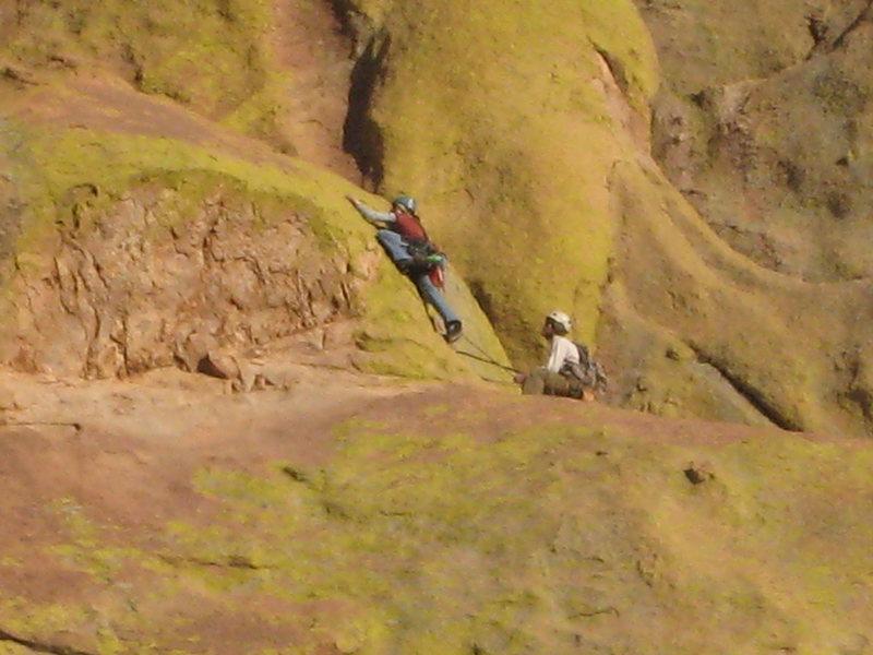 Rock Climbing Photo: Start of pitch 4 (definitely steeper than it looks...