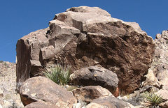 Rock Climbing Photo: Larry Flint Memorial Boulder. Photo by Blitzo.
