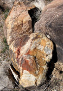 Rock Climbing Photo: More oddly colored rocks in the drainage below The...