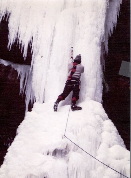 Don't laugh. Style called for knickers, long scarf, even longer primitive tools. Yes, we were 'gods' back then to even attempt these routes.  No thanks needed, just buy us a beer next time you see any oldsters' in a bar telling tall tales.