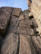 Rock Climbing Photo: Looking up the fun crack.