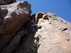 Rock Climbing Photo: At the crux.