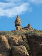 Rock Climbing Photo: In the shadow of Balanced Rock at The Upper Tier