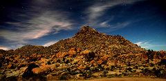 Rock Climbing Photo: The desert in full moon light. Photo by Blitzo.