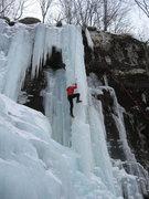 Rock Climbing Photo: Me climbing left Twin columns