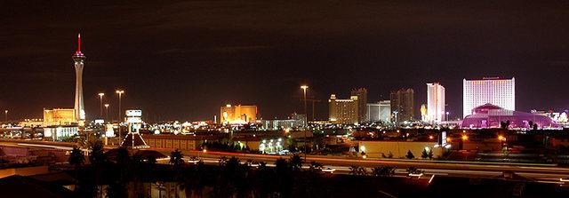Las Vegas at night.<br> Photo by Blitzo.