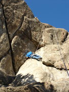 Rock Climbing Photo: John Slezak on the Leaning Corner.
