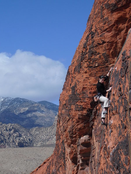 Rock Climbing Photo: Carrie on TR