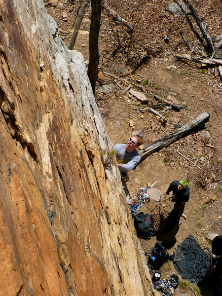 Mike checking out the moves on Changnurdle, T-Wall.