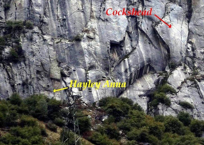 Rock Climbing Photo: Hayley Anna, the splitter, a bit past the Cockshea...