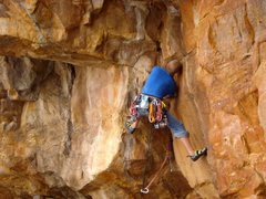 Rock Climbing Photo: JOsh Laitila trying to link Scorpion Corner and Ka...