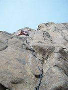 Rock Climbing Photo: Kent at the mental crux.